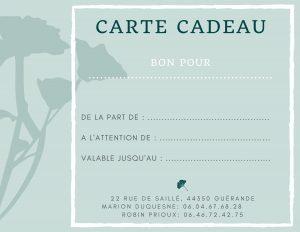 bien-être, sophrologie, soins énergétiques, Guérande, Marion Duquesne, carte cadeau